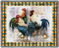 Provencal Roosters Canvas Oil Painting Wall Hangings