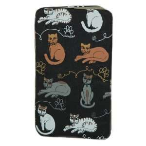 Accessories Large Kitty Cat Black Flat Wallet