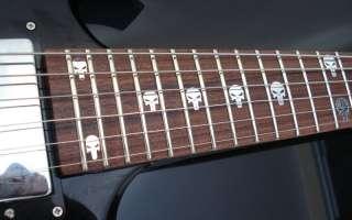 PUNISHER SKULL Vinyl Guitar Decal Inlay Set