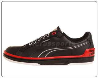 Puma EVO Ducati LO Low Black Red 2011 New Mens Casual Motorsports