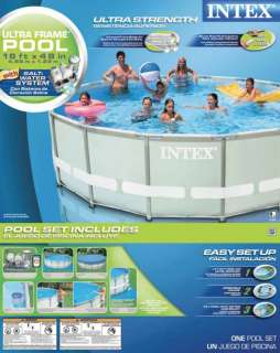 INTEX 16 x 48 Ultra Frame Swimming Pool Set & Saltwater System