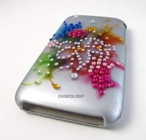 FUNKY FLOWER CRYSTAL SPOT HARD CASE COVER IPHONE 3G 3GS