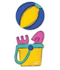 Sizzix Sizzlits Die Hello Kitty Beach Ball, Pail 656008