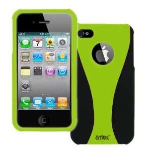 EMPIRE Apple iPhone 4 / 4S Neon Green & Black Duo Shield