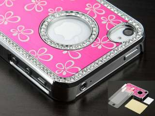 Electroplating Hollow Pattern PC Hard Case Back Cover for iPhone 4G 4S