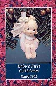 1992 Precious Moments Babys First Christmas Girl MIB