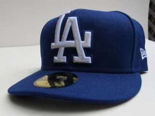 LA Dodgers Big Logo BLUE WHT All Sz Cap Hat by New Era