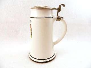 UNIQUE Vintage PRAHA Red CLAY Pottery GERMAN Earthenware BEER Stein
