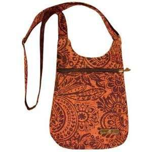 Orange Arabesque Designed Bag Collection   Travelette Bag