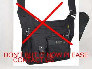 Dakar Mens fashion high quality nylon shoulder bag black Messenger