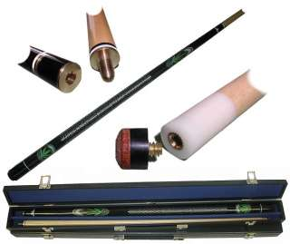 Pot Leaf Marijuana Billiard Wood Pool Cue Stick + Case 844296028757