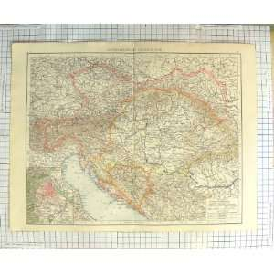 ANTIQUE MAP c1900 AUSTRIA HUNGARY PLAN VIENNA VENICE Home