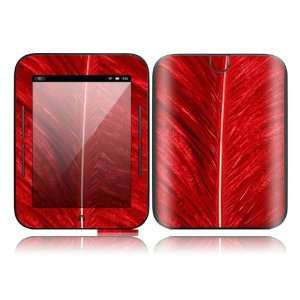 Red Feather Design Decorative Skin Cover Decal Sticker for