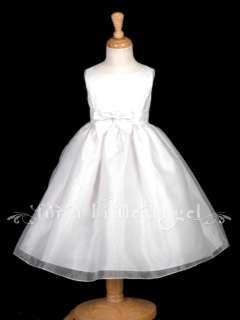 NEW SATIN ORGANZA FLOWER GIRL HOLIDAY DRESS 2 4 6 8 10