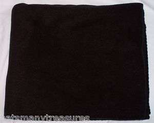 50 x 60 BLACK FLEECE THROW BLANKET   I HAVE THESE IN MANY COLORS