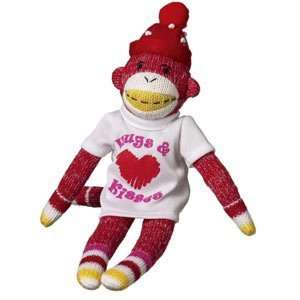 TINY ALBERT Hugs & Kisses Valentine LOVE Sock Monkey 9