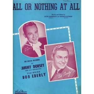 All or Nothing At All Vintage 1940 Sheet Music recorded by