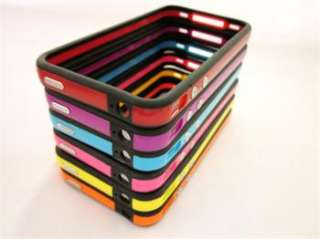 18X Lovely 18 Colors Bumper Case Cover Metal Button For iPhone 4 4S