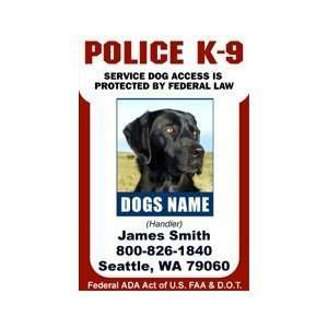 POLICE K9 ID Badge   1 Dogs Custom ID Badge   Design#4