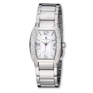 Ladies Charles Hubert Crystal Accent White Dial Watch