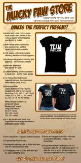 TEAM PAPILLON T SHIRT fab dog & puppy owner gift, new
