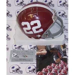 Mark Ingram Hand Signed Alabama Crimson Tide Mini Helmet
