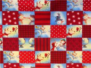 New Snowman Fabric BTY Christmas Holiday Snow Hallmark