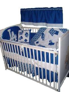 Baby Nursery Crib Bedding Set w/LA Dodgers fabric