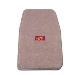 Fit Front Two Piece Floormat with NCAA Arizona State Logo Automotive