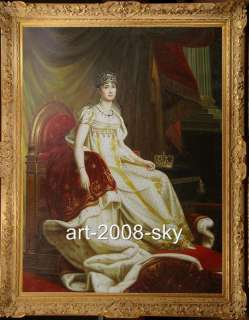 Old Master Art Antique Oil Painting Portrait Noblewoman 36X48