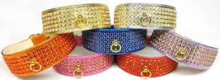 Metallic Mirage Jeweled 5 Row Pet Dog Collar