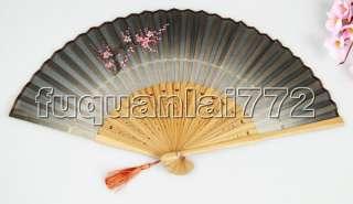 COLLECTIBLES HANDCRAFT ART SILK Bamboo Folding fan #888
