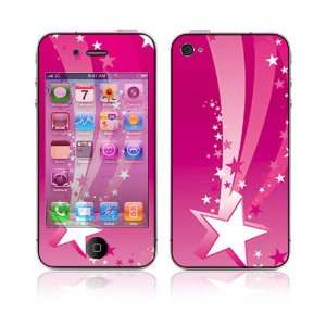 Pink Stars Skin Cover Decal Sticker for Apple iPhone 4 16GB 32GB (AT&T
