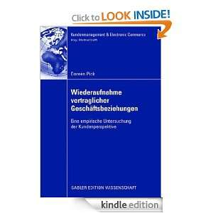 ) Doreén Pick, Prof. Dr. Manfred Krafft  Kindle Store