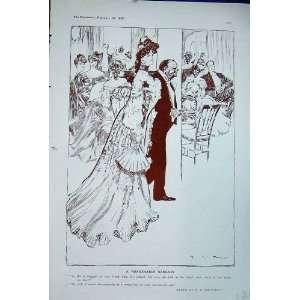 1906 Drawing Macdonald Sir Julius Man Woman Romance