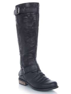 CHINESE LAUNDRY PARK Women Buckle Military Distressed Tall Riding Boot