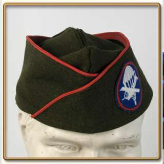 WW2 US Army EMs OD Wool Garrison Cap 57 Artillery