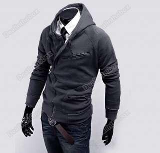 Mens Stylish Slim Fit Hoodies Jackets Men Sweaterhoodies Coats 4