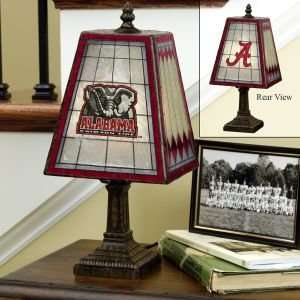 Alabama Crimson Tide Glass Table 14 Lamp