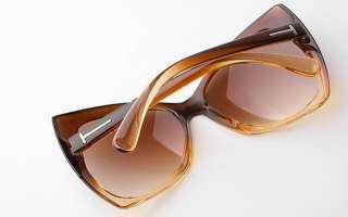 New Fashion Women Lady Cat Eye Sunglasses Eyeglasses Brown Fma