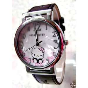 Hello Kitty Ladies Leather Quartz Wrist Watch Everything