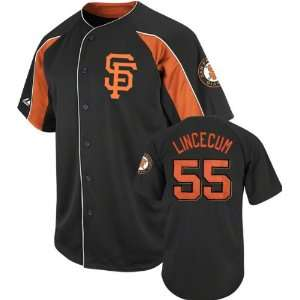 Tim Lincecum San Francisco Giants Black Double Play Jersey