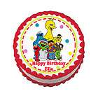 STREET ELMO BIG BIRD OSCAR Edible Cake Image Topper Party Decoration