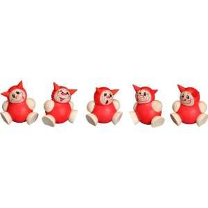 German Ball Shape Figure Lutz Cartoon Character Set of 5