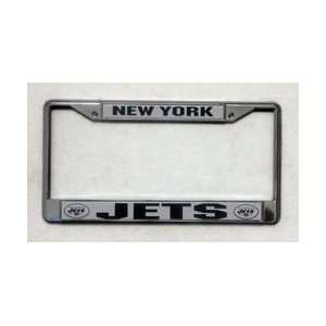 New York Jets Chrome Metal License Plate Frame with FREE