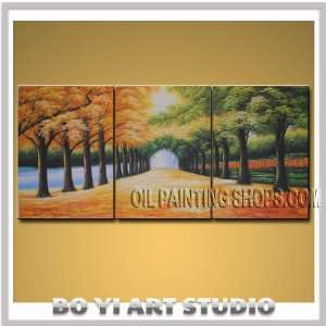Large Modern Landscape Oil Painting Wall Art Path To Park