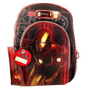 Ironman Iron Man 16 Inch Backpack w/ Free Pencil Bag Case