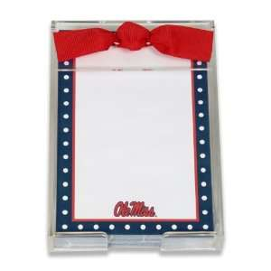 Palm Tree Paperie Ole Miss Rebels Polka Dot Acrylic Note Set, 150