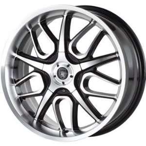 Von Max VM2 16x7 Machined Black Wheel / Rim 5x4.25 & 5x4.5 with a 40mm
