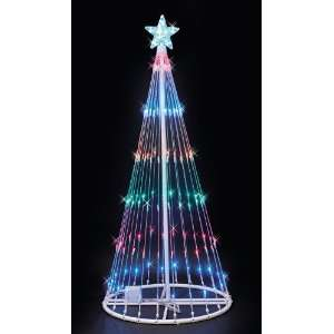 Outdoor LED Light Show Tree 9 Tall Multi Colored Lights